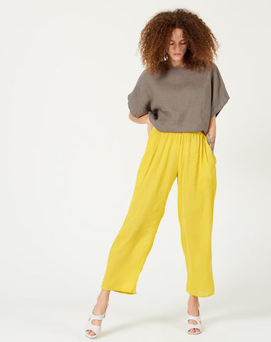 Easy Pant in Yellow