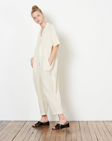 63b35f22c2b ... Black Crane Kite Jumpsuit in Cream ...