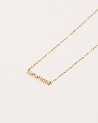 Carole Diamond Bar Necklace