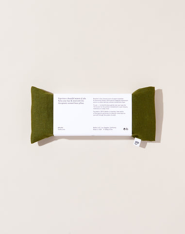 Linen Aromatherapy Eye Pillow in Emerald