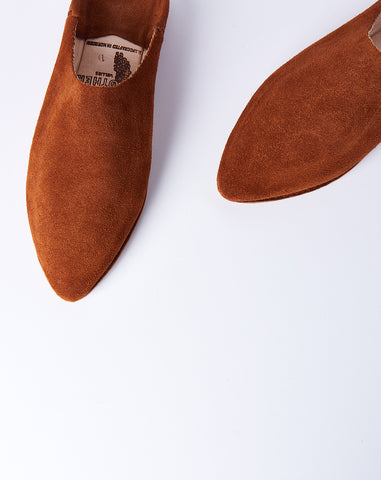 Babouche in Clay Suede