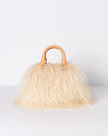 Brother Vellies Mini Island Bag in Luna Mongolian Shearling