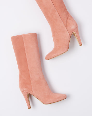 Palm Boot in Dusty Rose Suede