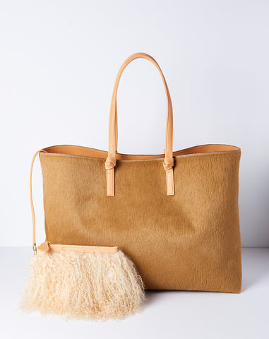 Tote in Honey Calf Hair