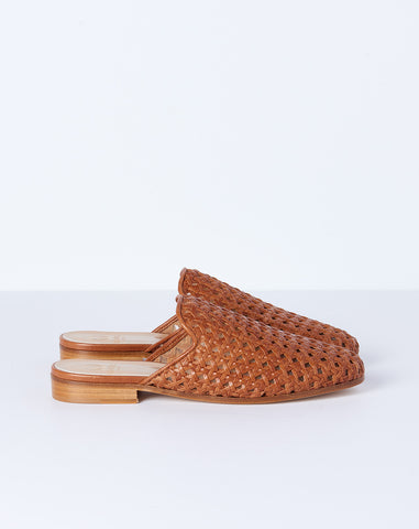 Woven Slide in Whiskey