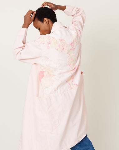 Quilt Back Harris Duster in Pink L