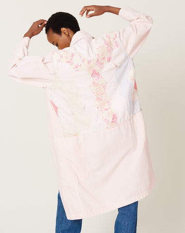 Quilt Back Harris Duster in Pink M