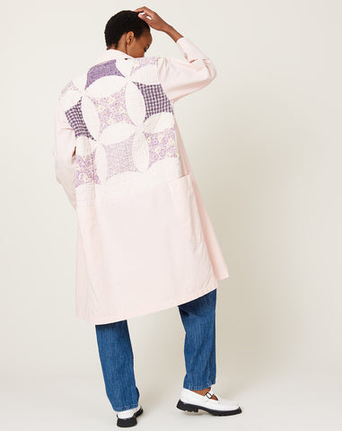 Quilt Back Harris Duster in Pink S