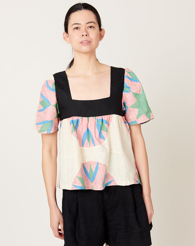 Square Neck Shirt in Dazzle S