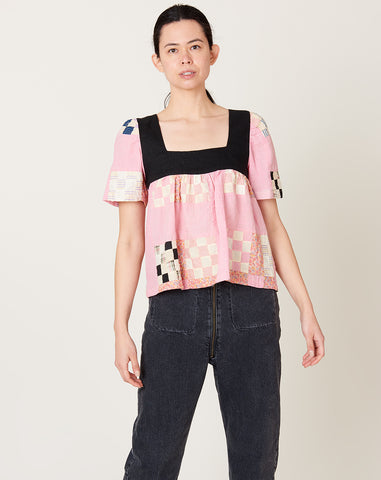 Square Neck Shirt in Dazzle XS