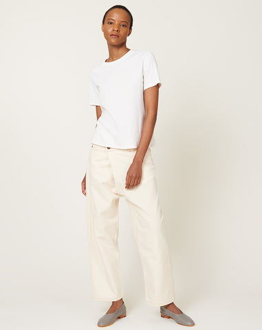 Carson Pant in Cream Canvas