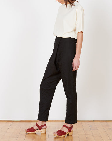 Charlie Pant in Floral Cotton Jacquard