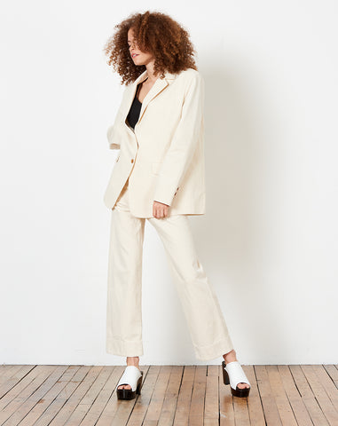 Claude Jacket in Cream Canvas