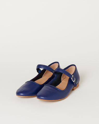 Ellie Mary Jane in Navy Leather