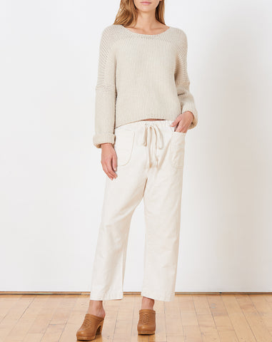 Gwen Pant in Cream Canvas