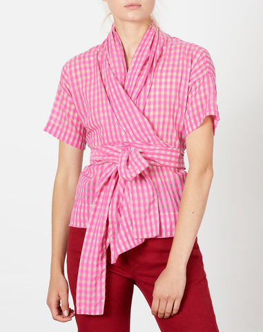 Julien Top in Pink Gingham