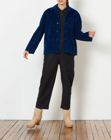 Krasner Coat in True Indigo Corduroy