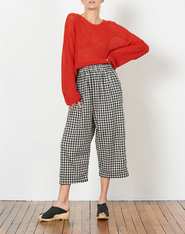 Nora Pant in Black and White Gingham