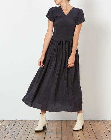 Pico Dress in Black Micro Dot