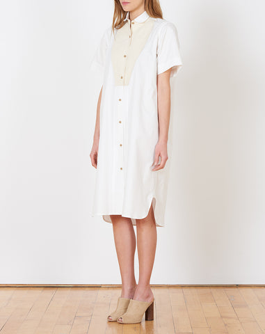 Ruby Dress in White Cotton