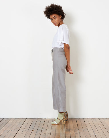 Stewart Pant in Grey Japanese Twill