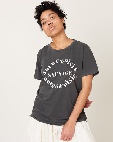 Bourgeoisie Sauvage Tee in Faded Black