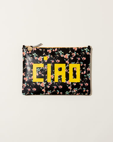 Ciao Flat Clutch in Cherry Blossom