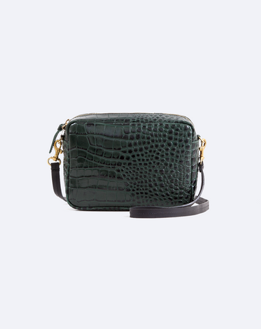 Midi Sac in Loden Croco