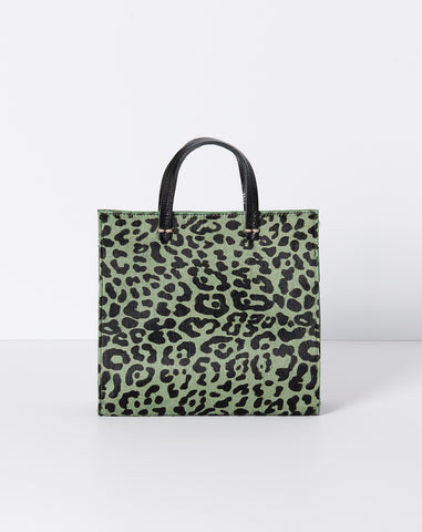 Petit Simple Tote in Agave Leopard