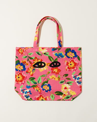 Saturday Tote in Pink Floral