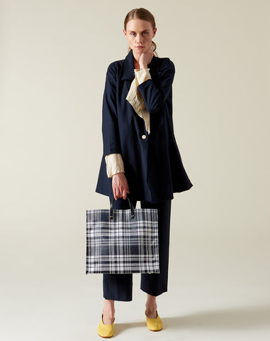 Simple Tote in Navy Plaid