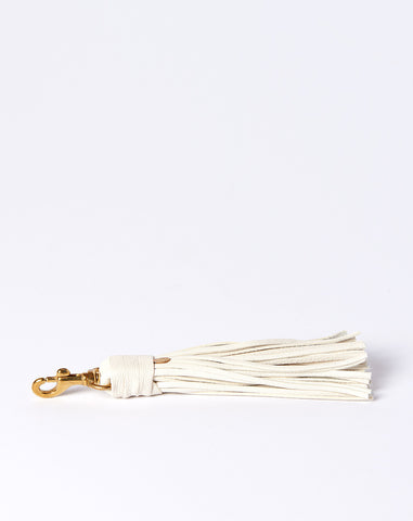 Tassel Hook in Cream Goat