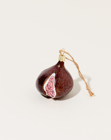 Orchard Fig Ornament in Brown