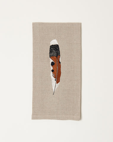 Kestrel Feather Tea Towel