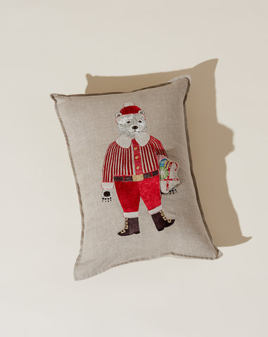 Polar Bear Santa Pocket Pillow