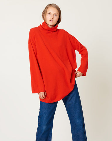 Andres Turtleneck Sweater in Scarlet