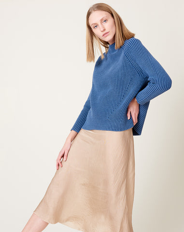 Daphne Sweater in Blue Denim