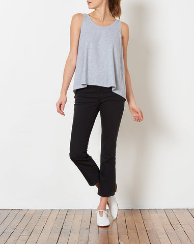Yvonne Tank in Light Heather Grey