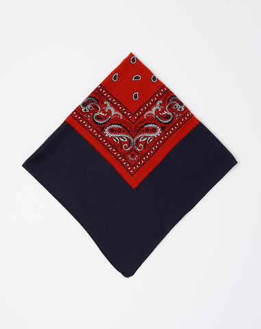 Bandtwice Scarf in Red and Navy