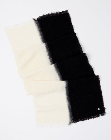 Melisabi Scarf in Off White and Black
