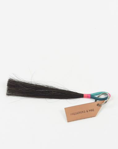 Small Horsehair Tassel in Black and Teal