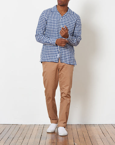 Camp Collar Shirt in Blue Gingham