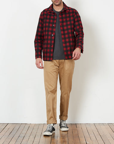 Chore Jacket in Red Plaid
