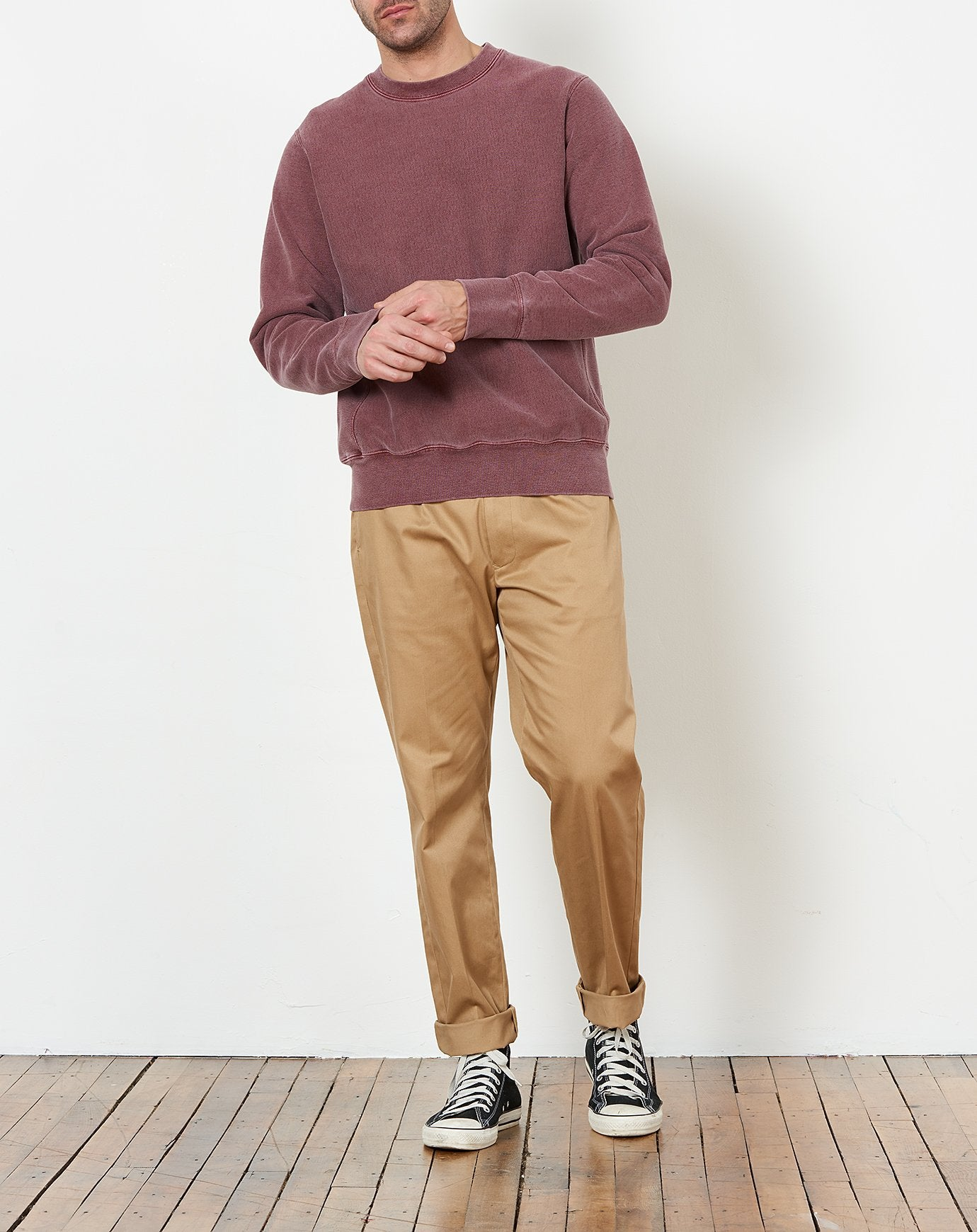 Crewneck Sweatshirt in Burgundy