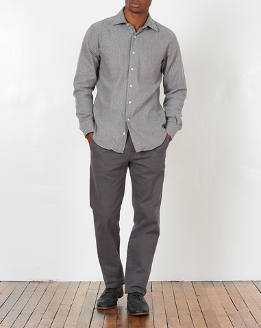 Hopkins Shirt in Grey Flannel