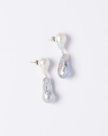 Baroque Pearl Tonal Drop Earrings