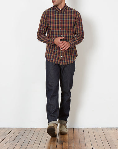 Button Down Shirt in Minersville Plaid