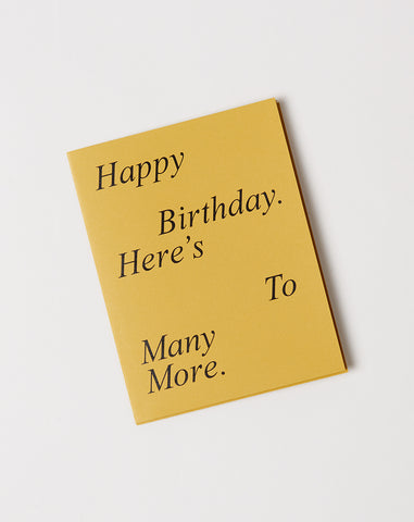 Two Faced Card Happy Birthday
