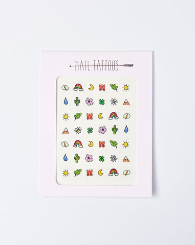 The Great Outdoors Nail Tattoos