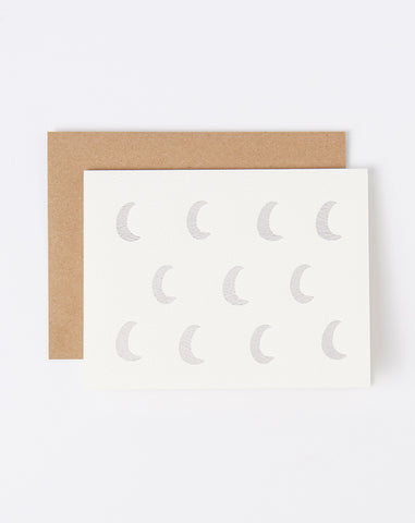 Set of Six Foiled Moon Folding Notes
